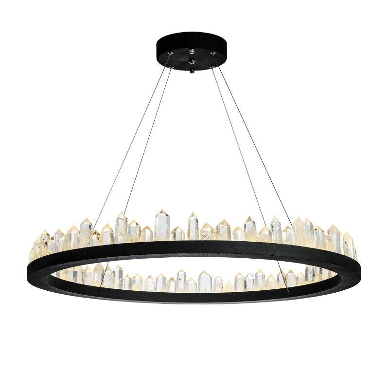 brief design modern crystal chandeliers black hanging lights AC110V 220V lustre dinning room light fixtures bar lamp