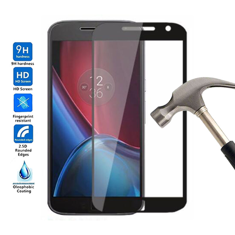 Full Cover Tempered Glass For Motorola Moto G4 Plus Screen Protector Front Phone Film For Motorola Moto G4 Plus G 4 Plus Glass