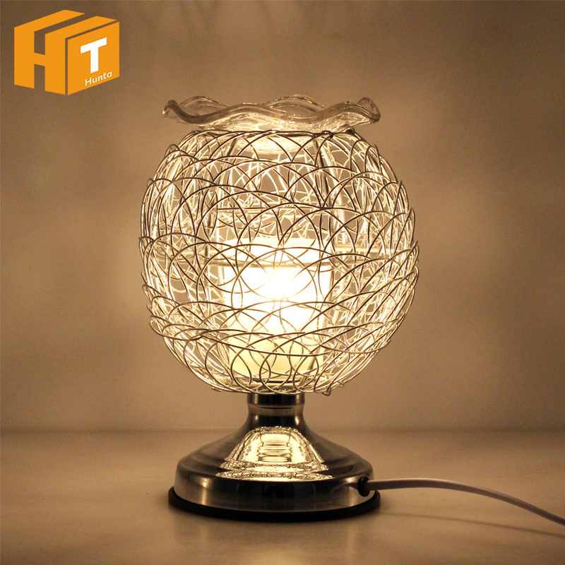 Dimmable Aromatherapy Nest Table Lamp 220V Electric Fragrance Essential Oil Lamp Air Aroma Diffuser Night Light Christmas Decor