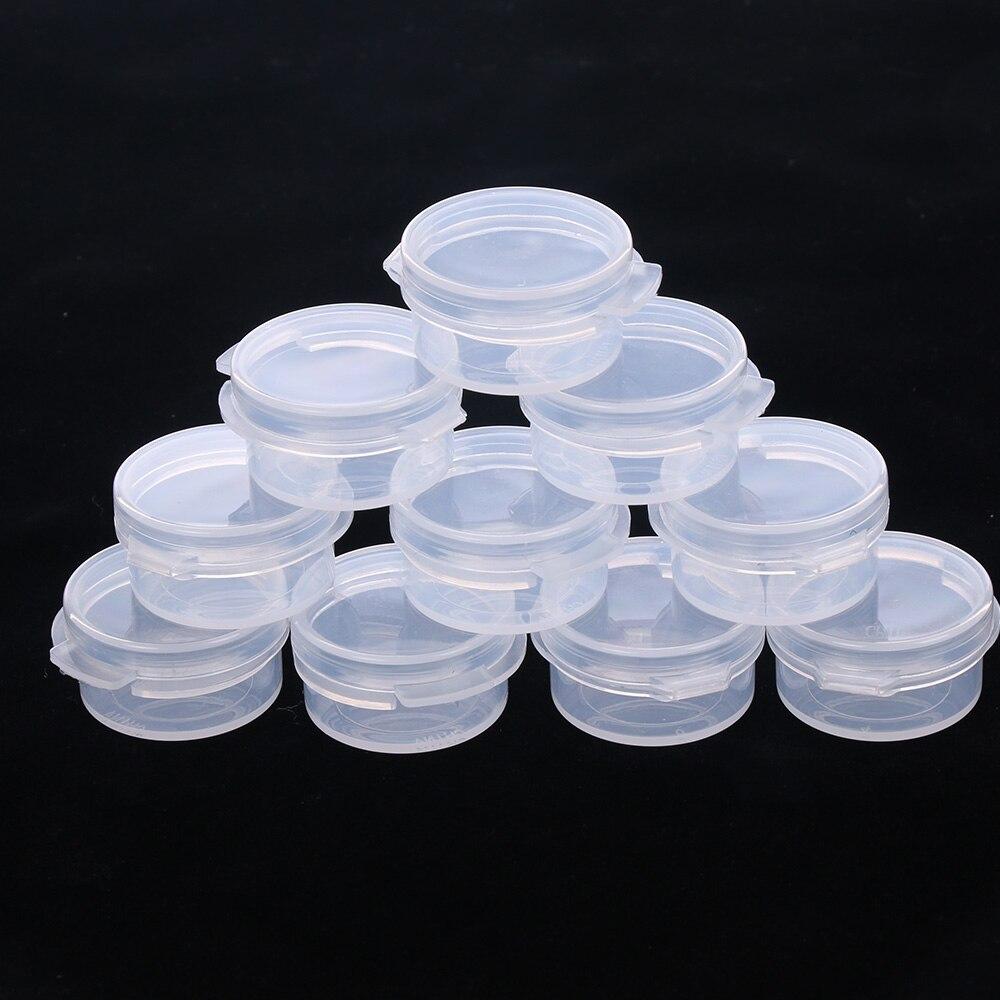 10 Pcs 5g Make Up Jars Mini Sample Bottle Sealing Pot Face Cream Container Portable Bottle Plastic Transparent Case