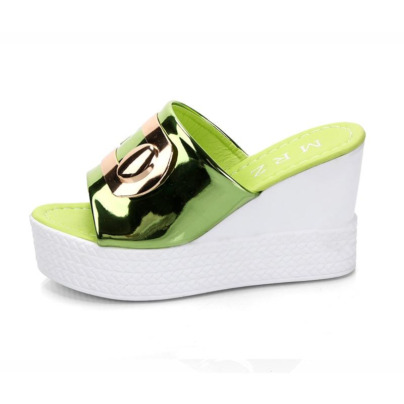 HTB1BvKQBMmTBuNjy1Xbq6yMrVXa2 2018 Summer New style Arrived Sexy Platform Wedges Sandals Women Fashion High Heels Female Slippers a634