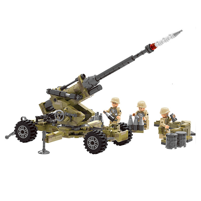 compatible legoinglys Military WW2 Scorpio Cindy artillery tank  Building Blocks model figures with arms toys for children gift