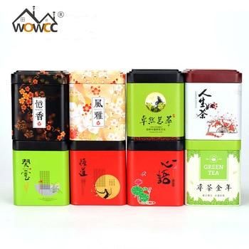 1 unidad de contenedores de té chino WOWCC, caja de estaño de...
