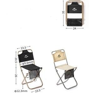 Image 5 - Сверхлегкий складной мини стул Naturehike, портативное уличное кресло для рыбалки на луну, кемпинга, пеших прогулок, стул для барбекю, расширенный