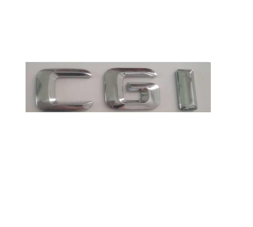 Chrome Shiny Silver ABS Car Trunk Rear Number Letters Words Badge Emblem Decal Sticker Stickers for Mercedes-Benz CGI CDI TDI