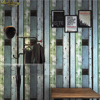 beibehang Wall paper Retro Vintage Antique Faux Wood Color Personality Wood Fashion Women Clothing Store Korean Wood Wallpaper