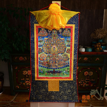 Wholesale Buddhist supplies--120CM large --Tibetan Buddhism art Karma Kagyu FANYIJING  Buddha Thang-ga Thangka art