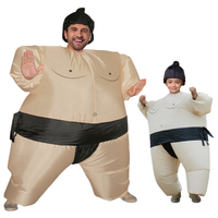 Sumo Inflatable Costume Halloween Costumes For Women Kids Carnival Christmas Cosplay Party Dress Outfits Fat Man Suits Wrestler