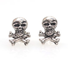 28138a72d 2019 Halloween Jewelry Punk Black Skull Earrings For Men Women Boys Vintage  Stud Earrings Vintage Rock Skeleton Ear Party Gift