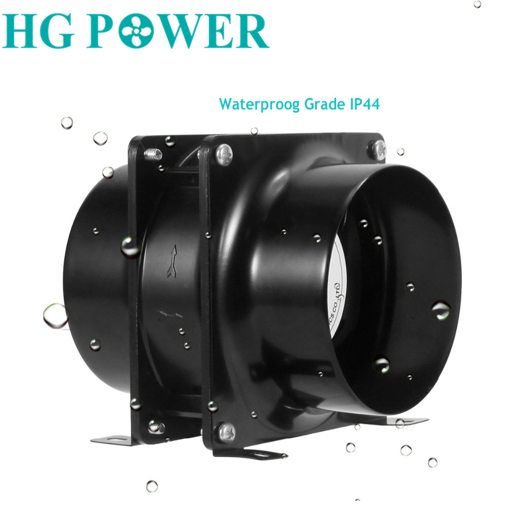 4/6inch Meatal Exhaust Inline Duct Fan Ventilation Fan For Greenhouse Grow Tents With Carbon Filters Air Exhaust Fan  Aluminum