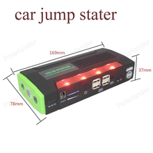 Venta grande Capacidad 68800 mAh Car Jump Arranque Mini Cargador de Batería de Emergencia Portátil para Gasolina y Diesel Car Envío gratis