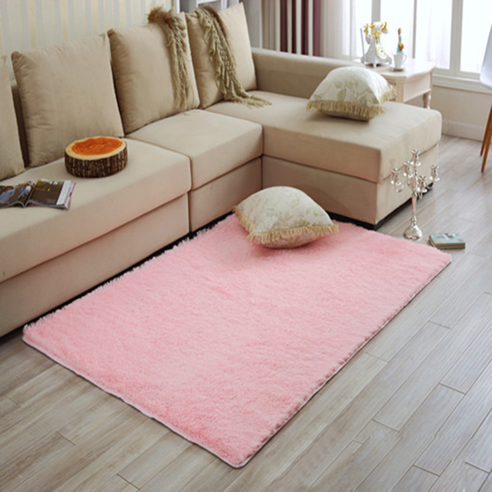 Mat For Home Parlor Bedroom Living Room Modern Long Plush Shaggy Soft Carpets Area Rug Slip