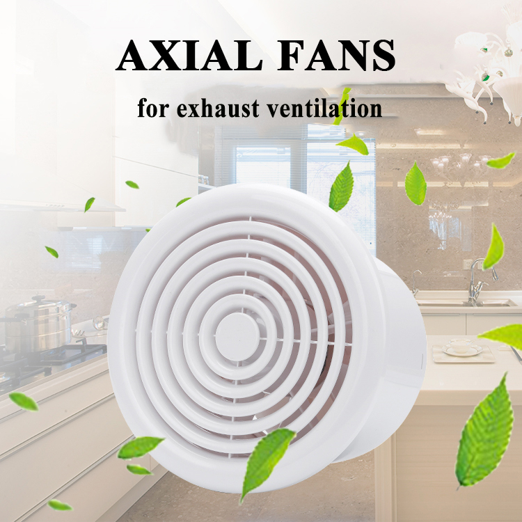 4/6 inch electric Plastic air vent cover bathroom ceiling wall exhaust ventilation fan grille for round duct pipe 100/150mm 220V