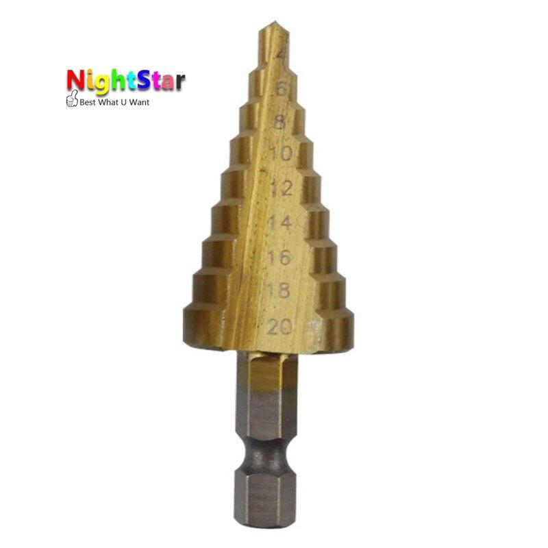 4-20mm HSS Steel Large Step Cone Titanium Coated Metal Drill Bit Cut Tool