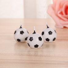 3 Pcs/set Cartoon Cute Football Candle Kid's Birthday Cake Cupcake Topper Birthday Party Baby Shower Cake Candles Decorations