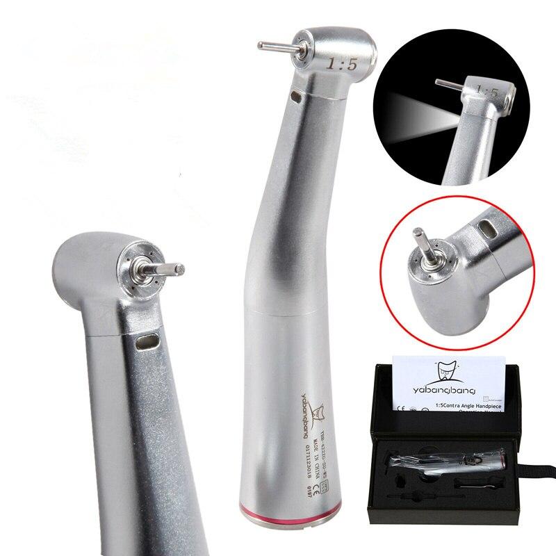 Dental 1:5 Elétrica Fibra Óptica Led Anel de Ajuste Kavo Turbina NSK Contra Ângulo Peça de Mão Vermelho