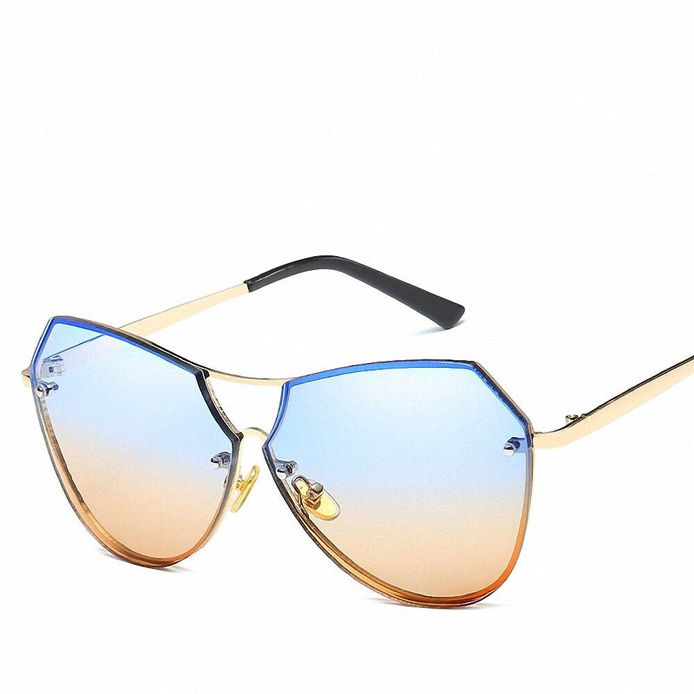 Novel Glasses Outdoor Driving Shopping Ladies Sunglasses Hot Sale Mirror Flat Lense Women Cat Eye Classic Brand Designer Glasses