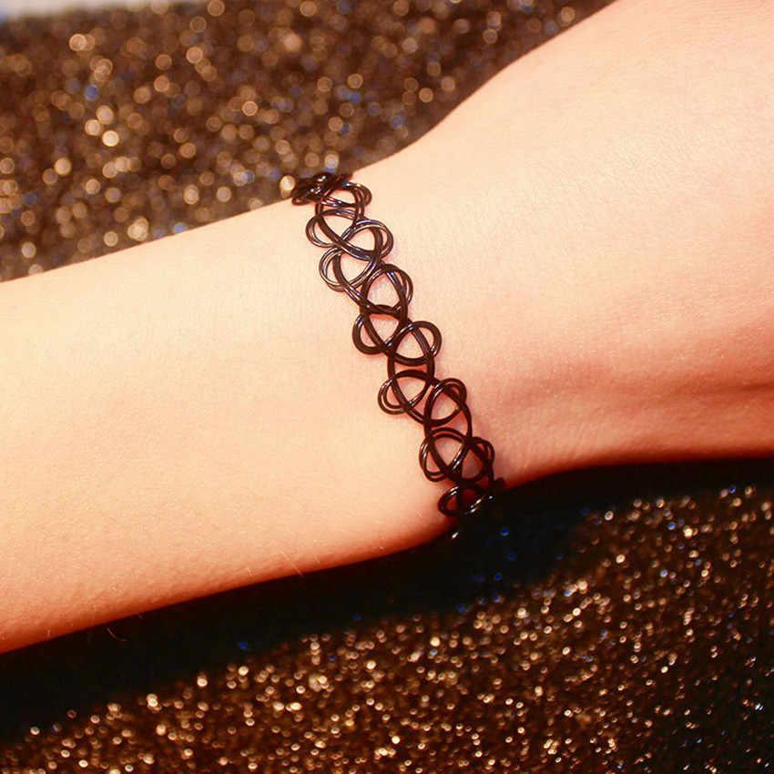 เครื่องประดับสไตล์ผู้หญิง 3 ชิ้น Choker สร้อยคอแหวนสร้อยข้อมือชุดเครื่องประดับกำมะหยี่คลาสสิก Gothic Tattoo ของขวัญ Charm สร้อยคอ