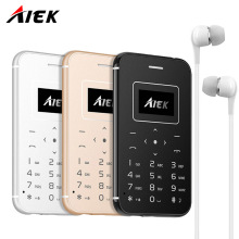Original Ultra Thin Card Mobile Phone AIEK/AEKU X8 Low Radiation mini pocket students personality children phone PK SOYES X6 M5