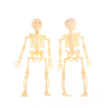 1Pc Halloween Movable Mr. Bones Skeleton Human Model Skull Full Body Mini Figure Toy Skeleton 11.5X5.5X2.5CM(China)