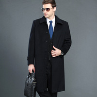 Big Size 4xl Autumn Winter Men's Jacket Business Casual Warm Men Wool Coat Slim Windbreaker Long Section Overcoat