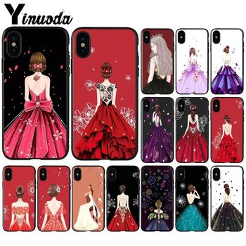 Yinuoda Bride dress Coque Shell Phone Case for Apple iPhone 8 7 6 6S Plus X XS MAX 5 5S SE XR Cellphones image
