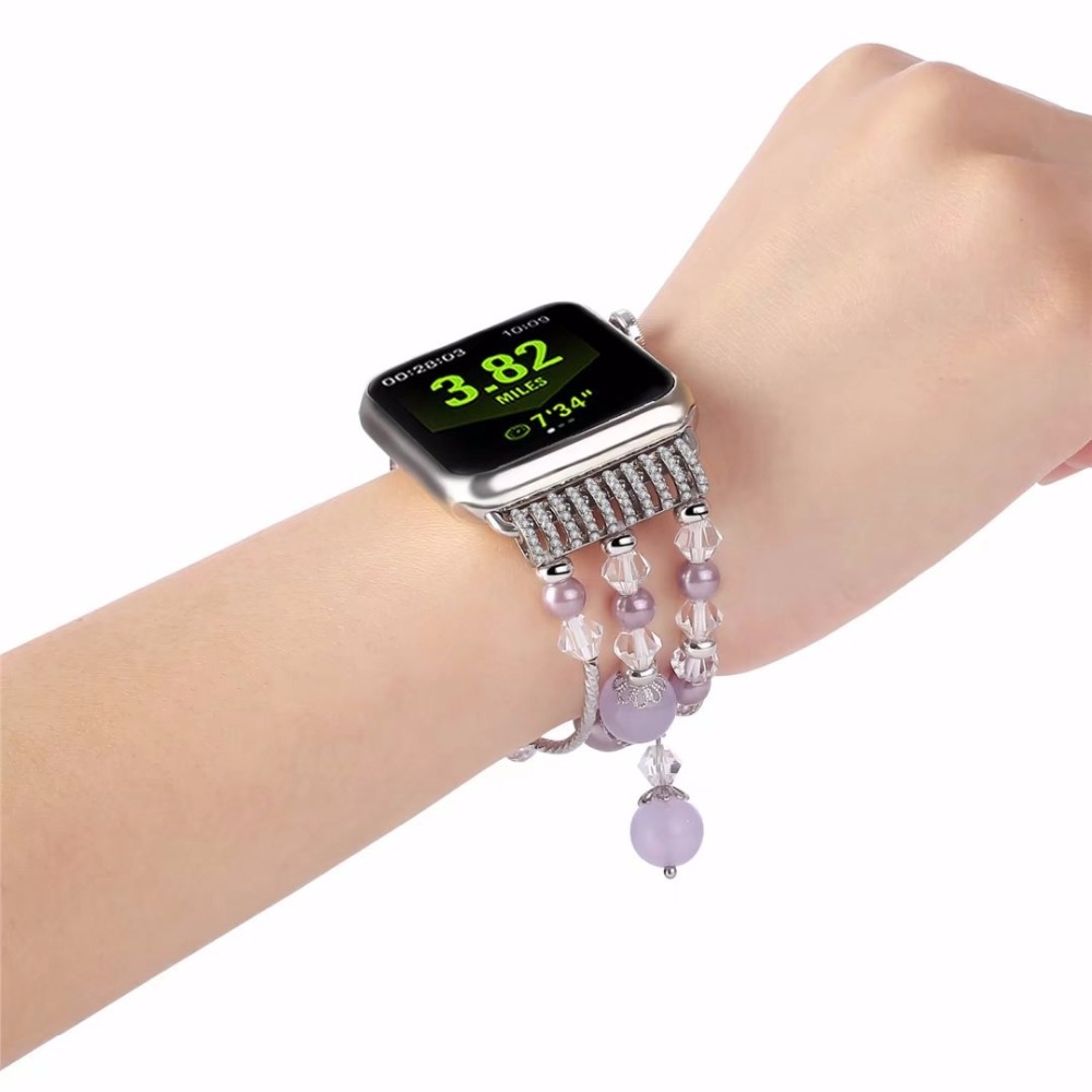 Luxury Ladies Watch Strap For Apple Watch Series 1 2 3 Wrist Band Hand Made By Crystal Bracelet For Apple Watch Series iWatch ladies watch strap for apple watch series 1 2 3 wrist band luxury hand made by crystal bracelet for apple watch series 4 iwatch