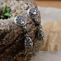 Оптовая продажа S925 серебра малахит серебряные серьги женский феникс носить пион серии серьги подарок