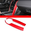 For Land Rover Discovery Sport 2015 2016 Car Accessories Aluminium alloy Central Console Panel Cover Frame Trim