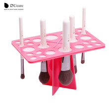 DUcare 1 Set Makeup Brushes Stand Acrylic Dry Brushes Holders pink and black can choose make up tools(China)