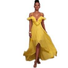 326041e7b9 2017 Kobiety Sexy Sukienki Formalne Lato Wzburzyć Głębokie V-Neck Druhna  Długo Stałe Przyjęcia Balu Togi Szyfonu Suknia