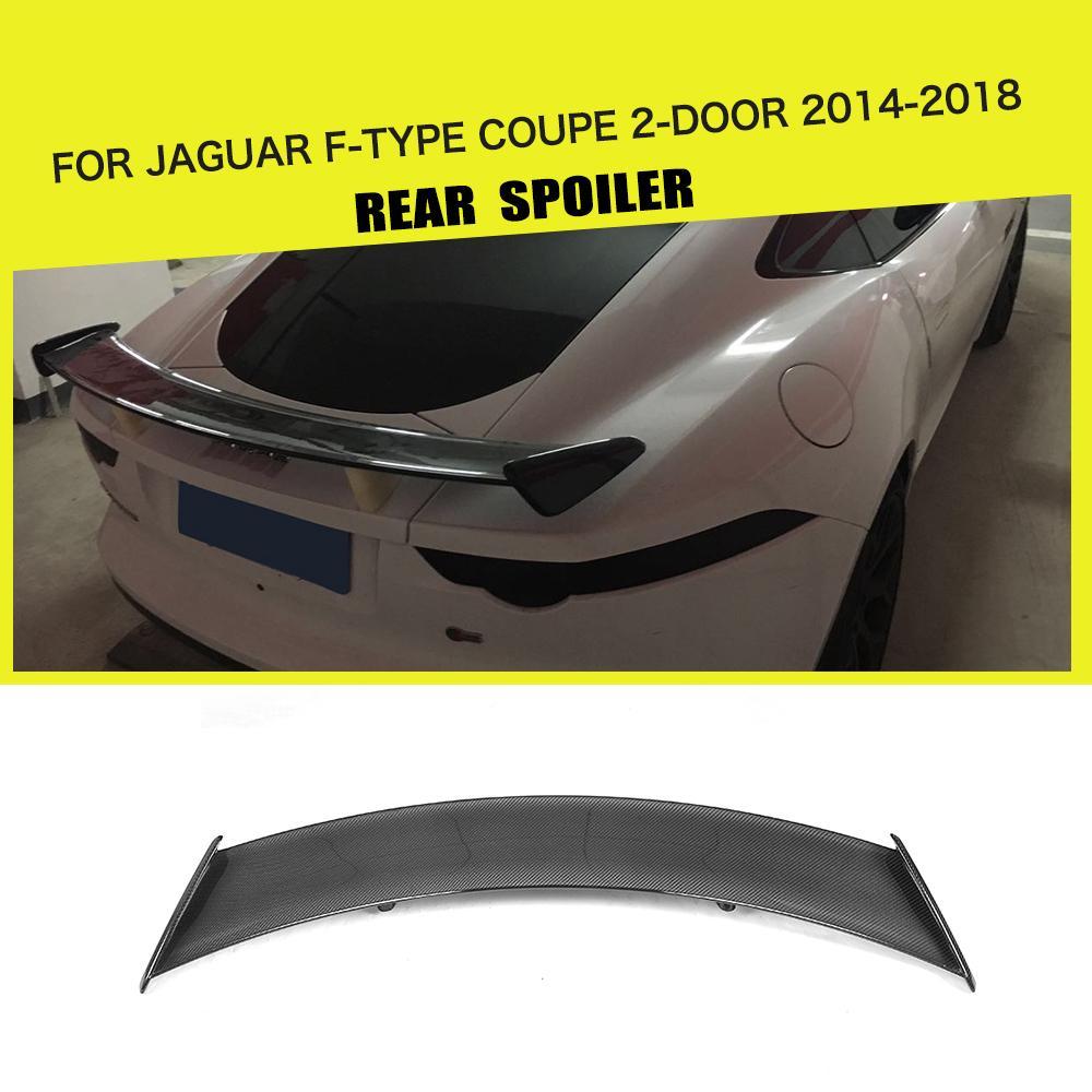 Carro de Fibra De carbono Tronco Spoiler Traseiro Asa Lip para Jaguar F-TYPE Coupe 2014 2015 2016 2017 2018 Estilo Do Carro