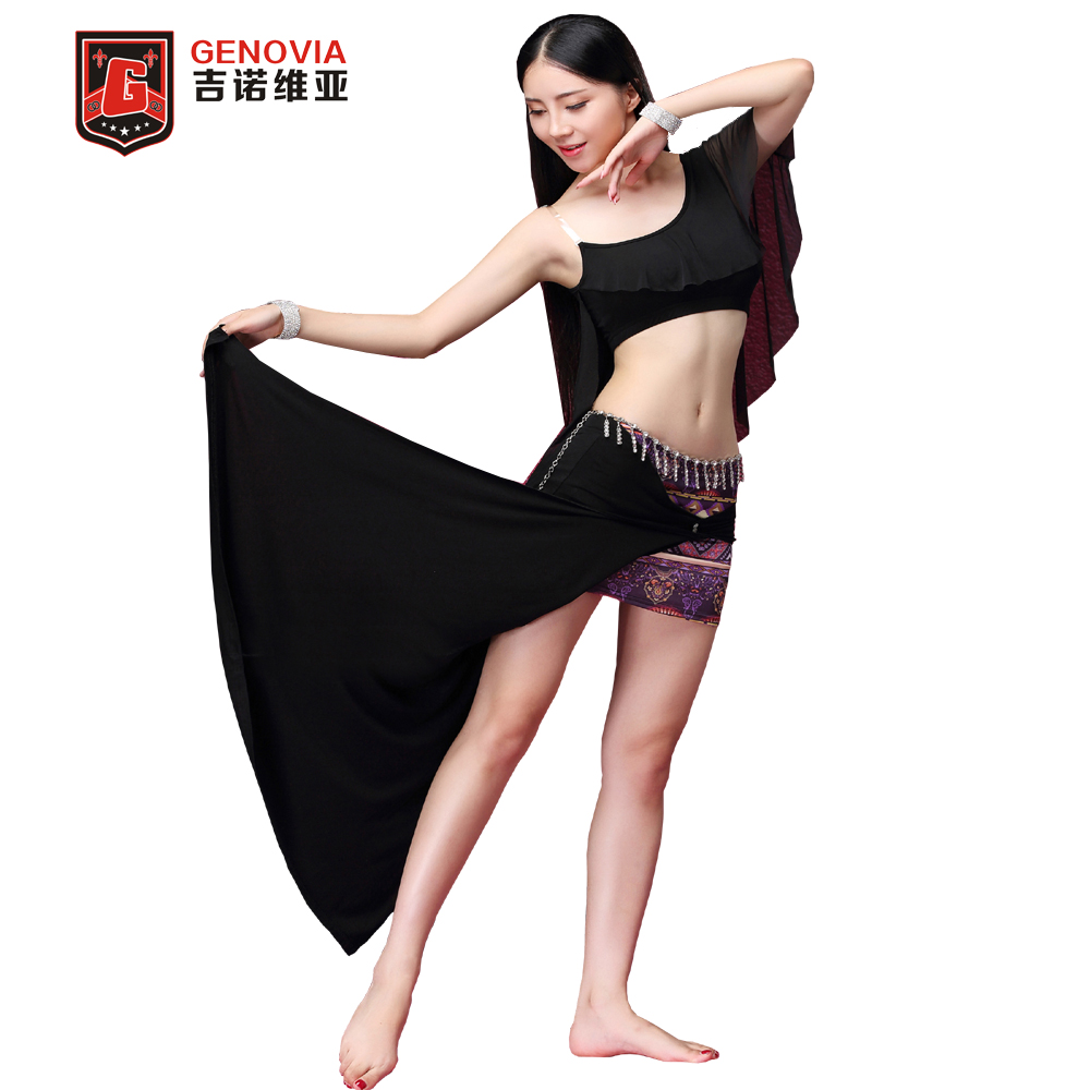 Women's Oriental Belly Dance Costumes 3 Pcs set Top &Skirt &Metal Charm Chain Lady Club Stage Suits M L  New Arrival