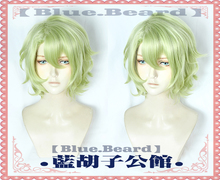 Japan Anime Ensemble Stars Eve Tomoe Hiyori Cosplay Wig Short Matcha Curly Hair Light Green Party Costume