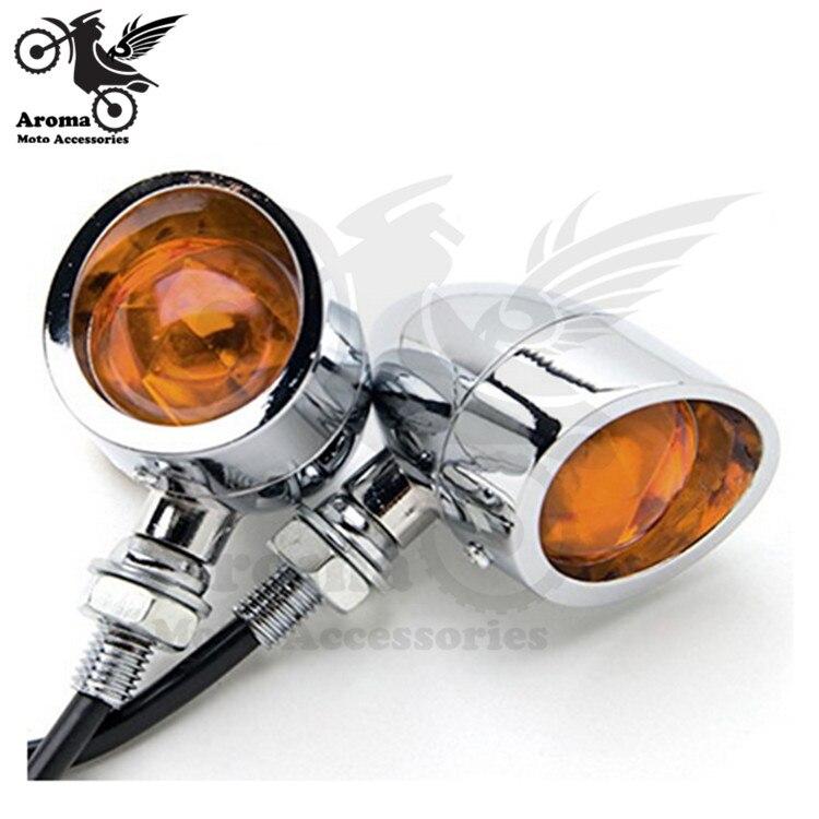 chrome silver blinker lamp amber moto indicator universal flashers for yamaha honda suzuki harley motorcycle turn signal light