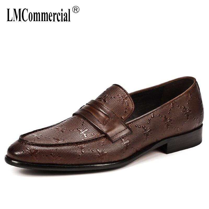 Повседневная мужская обувь из натуральной кожи в деловом стиле, модельные туфли для мужчин, весна осень зима, мужская деловая Дизайнерская ...