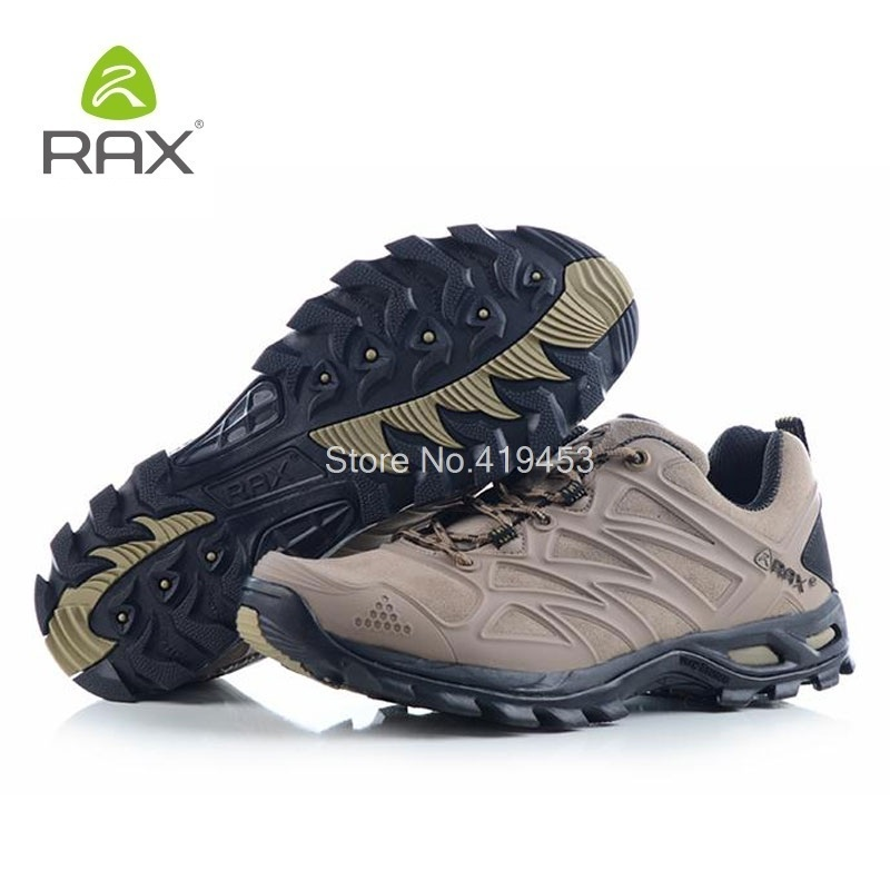 Rax Outdoor Hiking Shoes Men Slip Resistant Breathable Hiking Sneakers Wearable Lightweight Climbing Trekking Sneakers D0618
