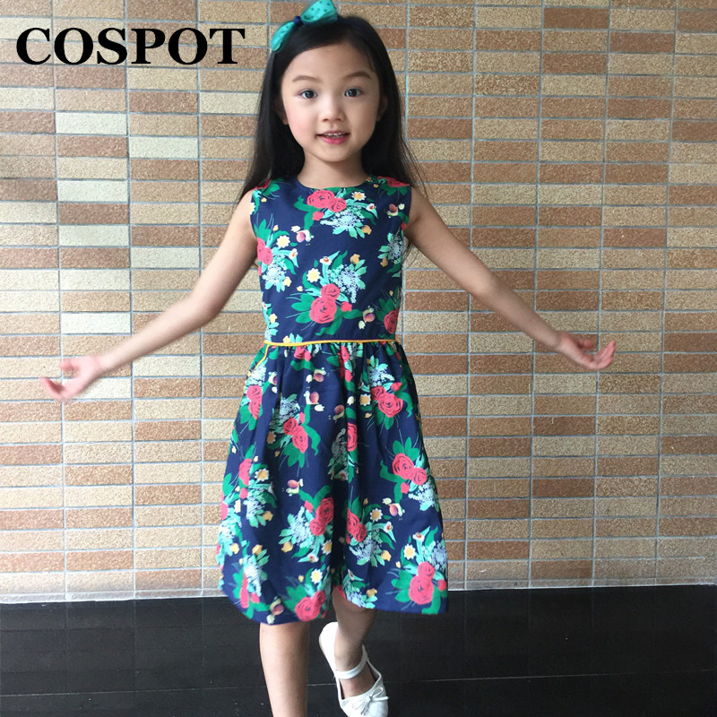 COSPOT Rush Sales Baby Girls Dress Summer Floral Princess Dresses Girl A-line Vestidos Baby Girl Clothes 2018 New Arrival 50