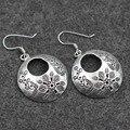 Большой цветок резные 925 серебряные серьги леди таиланд оригинальный ручной серебряный оптовая продажа импорт чиангмай