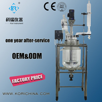 Factory Wholesale Price Laboratory Vertical Pyrolysis 30L Double jacketed glass reactor