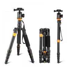 QZSD Q278 profesjonalny przenośny aparat ze stopu Aluminium podróży lekki statyw i statyw monopod z głowicą kulową dla Nikon DSLR