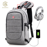 AHRI New Oxford Backpack Large Capacity Laptop Backpacks Shoulder Bag With Security Coded Lock USB Cable