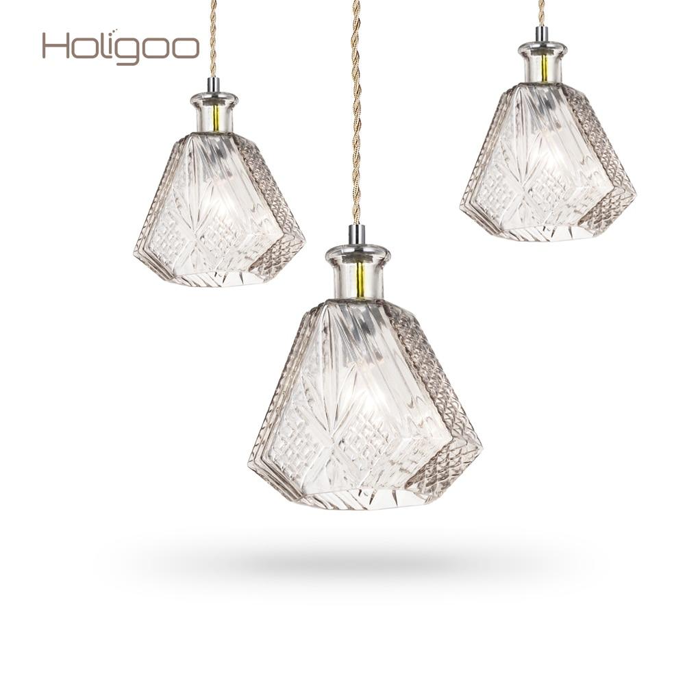 Holigoo Modern Minimalist Wine Bottle Pendant Lights CafeRoom Bar Lamp Single Glass Pendant Lamp Decoration Indoor Home Lighting smad 28 bottle wine chiller cellar bar
