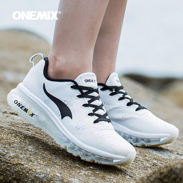 New onemix Air Men's Sports Running Shoes cushioning breathable Massage Sneakers for women sport shoes male athletic outdoor