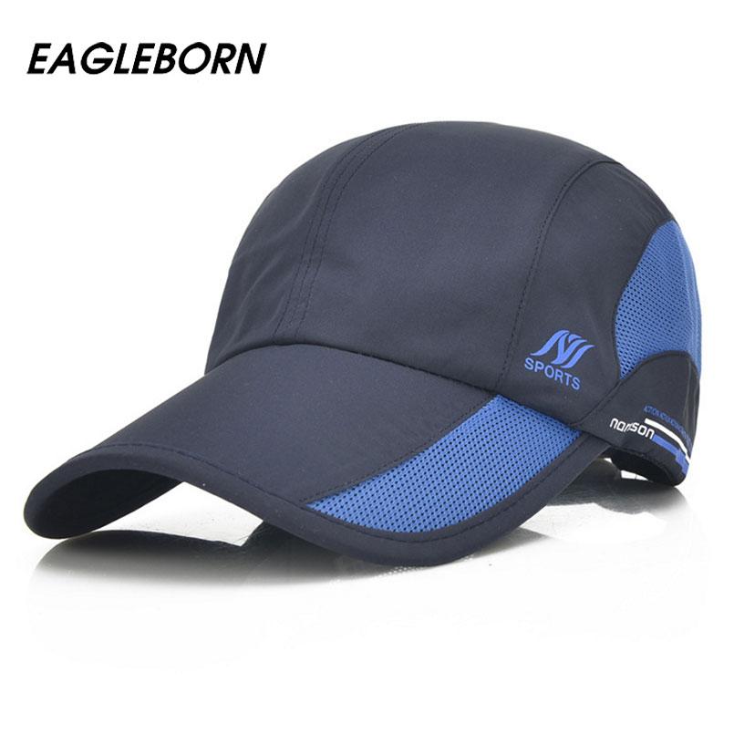 Eagleborn 2017 New Quick Dry Baseball Caps for Men Women casual sun hat waterproof cap Unisex adjustable 8 colors