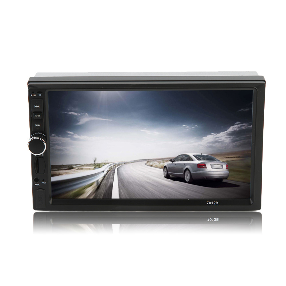 Car Styling Vehicle FM/MP5 Radio Player Black white 7 Inch Large HD Touch Screen Bluetooth Universal Auto Rear View Camera Input 7026tm 7 inch 800 480 double din hd bluetooth auto car radio mp5 player touch screen design tf fm aux input rear view camera set
