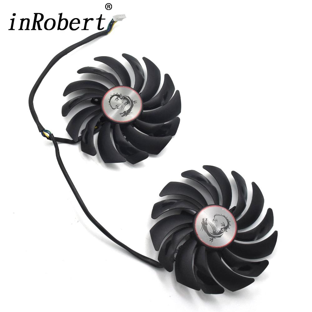 Original 95MM PLD10010B12HH Ball Bearing Cooler Fan For MSI GTX 1060 1070 1080 TI RX 470 570 RX580 Gaming GPU video card fan