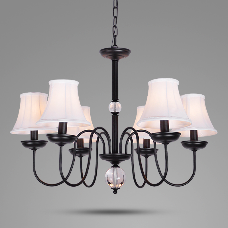 Crystal lights Chandeliers With Fabric Shades luxury fabric chandeliers European style fabric chandeliers Modern Chandeliers