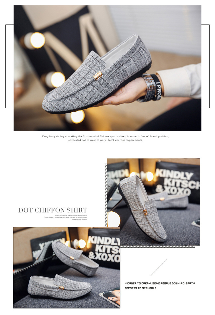 Men Casual Shoes Spring Summer Men Loafers New Slip On Light Canvas Youth Men Shoes Breathable Fashion Flat Footwear