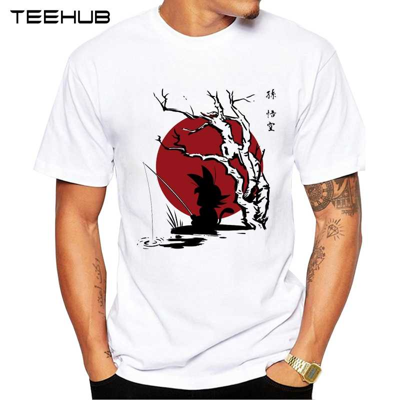 Teehub Son Goku Man Футболка 2019 крутой дизайн аниме Мужская футболка Born Kakarot футболка чернильный Saiyan Повседневная футболка с принтом